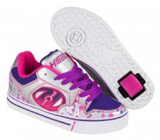 Heelys Motion Plus Silver/Pink/Purple/Drip
